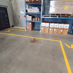 Warehouse line painting work