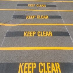 OH&S Line Marking Keep Clear Line