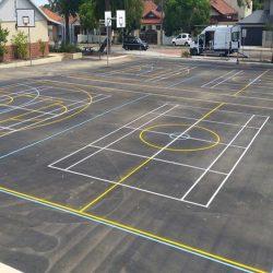 Sports court line markings